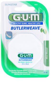 G.U.M Butlerweave hilo dental encerado con aroma de menta
