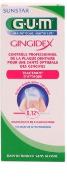 G.U.M Gingidex 0,12% bain de bouche anti-plaque dentaire pour des gencives saines sans alcool