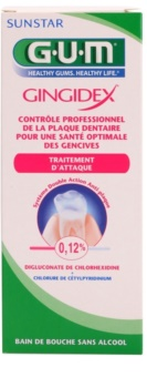 G.U.M Gingidex 0,12% elixir bucal contra a placa bacteriana e para ter uma gengivas saudáveis sem álcool