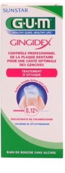 G.U.M Gingidex 0,12% ústna voda proti zubnému povlaku a pre zdravé ďasná bez alkoholu