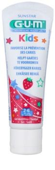 G.U.M Kids Gel pentru dintii copiilor cu aroma de capsuni