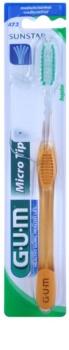 G.U.M Micro Tip Regular escova de dentes medium