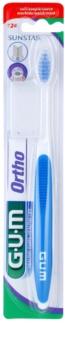 G.U.M Ortho 124 zubná kefka pre nositeľov fixného strojčeka soft