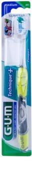 G.U.M Technique+ Compact Zahnbürste mit Kurzkopf Medium