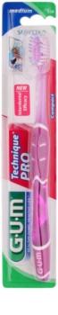 G.U.M Technique PRO Compact escova de dentes de viagem com tampa medium