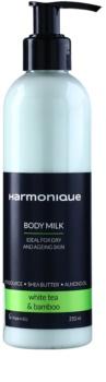 Harmonique White Tea & Bamboo tělové mléko proti stárnutí pokožky