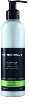 Harmonique White Tea & Bamboo telové mlieko proti starnutiu pokožky