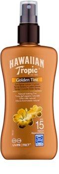 Hawaiian Tropic Golden Tint ochranné tělové mléko ve spreji SPF15