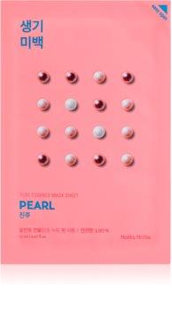 Holika Holika Pure Essence Mask Sheet Pearl masque tissu illuminateur