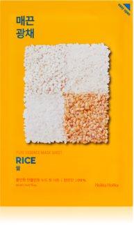 Holika Holika Pure Essence Mask Sheet Rice masque tissu brillance et vitalité