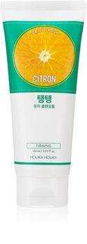 Holika Holika Daily Fresh Citron mousse detergente esfoliante per pelli grasse e miste