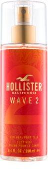 Hollister Wave 2 testápoló spray nőknek 250 ml