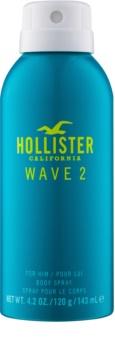 Hollister Wave 2 tělový sprej pro muže 143 ml