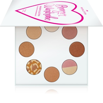 I Heart Revolution Highlighter Wardrobe paleta rozjasňovačov