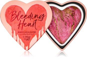 I Heart Revolution Bleeding Heart zapečen osvetljevalec