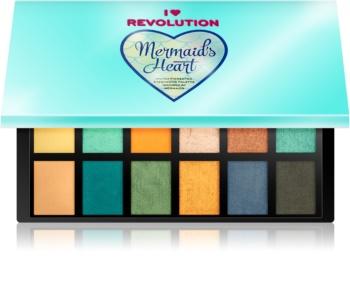 I Heart Revolution Mermaids Heart paleta senčil za oči