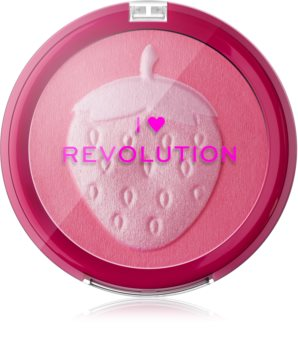 I Heart Revolution Fruity Blusher Strawberry blush compact