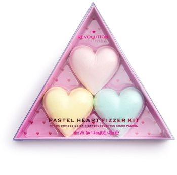 I Heart Revolution Fizzer Kit Pastel Heart farbige Brausetabletten zum Baden