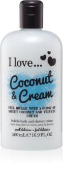 I love... Coconut & Cream gelasto olje za prhanje in kopel