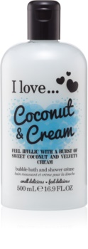 I love... Coconut & Cream Ulei gel de duș și baie