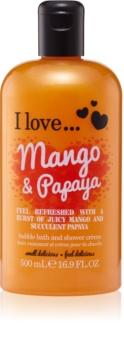 I love... Mango & Papaya sprchový a koupelový krém