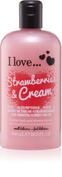I love... Strawberries & Cream crema per doccia e bagno