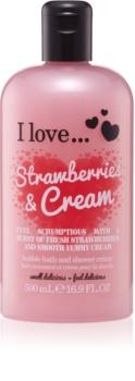 I love... Strawberries & Cream sprchový a kúpeľový krém