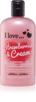 I love... Strawberries & Cream крем для ванни та душу