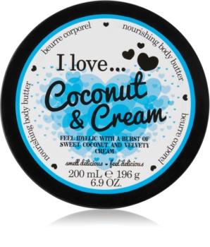 I love... Coconut & Cream tělové máslo