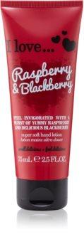 I love... Raspberry & Blackberry crema de maini