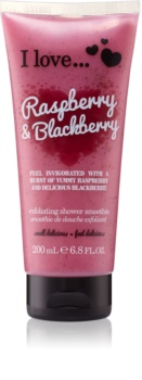 I love... Raspberry & Blackberry крем-пілінг для душу