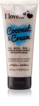 I love... Coconut & Cream piling za prhanje