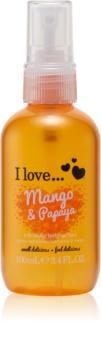 I love... Mango & Papaya освіжаючий спрей для тіла
