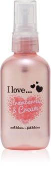 I love... Strawberries & Cream освіжаючий спрей для тіла
