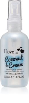 I love... Coconut & Cream osvežujoče pršilo za telo