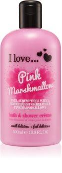 I love... Pink Marshmallow krema za prhanje in kopanje