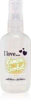 I love... Lemon Sorbet освіжаючий спрей для тіла