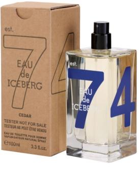 Iceberg Eau de Iceberg Cedar toaletní voda tester pro muže 100 ml