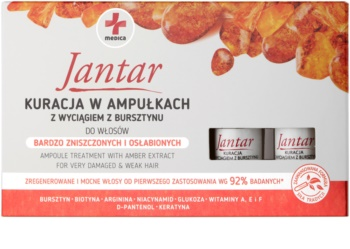 Ideepharm Medica Jantar obnovující kúra pro poškozené a křehké vlasy