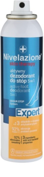 Ideepharm Nivelazione Expert aktívny deodorant na chodidlá 5 v 1 v spreji