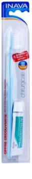 Inava Chirurgicale Zahnbürste Soft für die Zeit nach chirurgischen Eingriffen + Gel-Zahnpasta