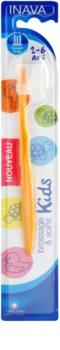 Inava Kids zubní kartáček pro děti s cestovní krytkou