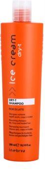 Inebrya Ice Cream Dry-T hranilni šampon za suhe in poškodovane lase
