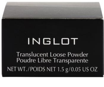Inglot Basic transparentní sypký pudr