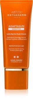 Institut Esthederm Adaptasun Sensitive crema protectoare pentru fata protectie medie impotriva razelor UV