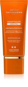 Institut Esthederm Adaptasun Sensitive schützende Gesichtscreme mittlerer UV-Schutz