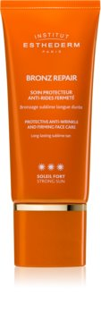 Institut Esthederm Bronz Repair creme facial reafirmante antirrugas com alta proteção UV