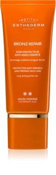 Institut Esthederm Bronz Repair zpevňující protivráskový krém na obličej se střední UV ochranou