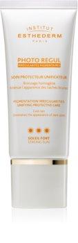 Institut Esthederm Photo Regul tónusegyesítő ápolás  hiperpigmentációs arcbőrre magas UV védelemmel