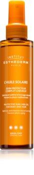 Institut Esthederm Sun Care óleo solar para corpo e cabelo de alta proteção UV